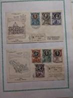 FDC Enveloppe Recommandée 1er Jour Vatican 23/4/53 Tp Serie Complete - FDC