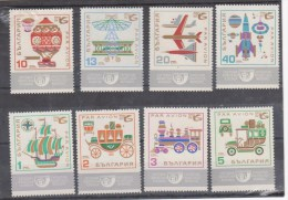 BULGARIE -  Poste Aérienne Année 1969 Neuf ** Exposition Internationale 8 Valeurs ..moyensde Transport - Luchtpost