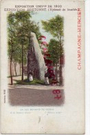 51 - EPERNAY - CHAMPAGNE MERCIER  - 75- PARIS - EXPOSITION 1900- EXPOSITION BRETONNE ESPLANADE INVALIDES MENHIR CAINAC - Epernay