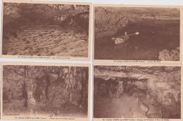 -  LOT  DE  12  CPA  DES  GROTTES  D´  ARCY -sur -  CURE  ( 89 )  - Toutes Scanées - Cartes Postales
