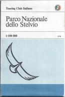 PARCO NAZIONALE DELLO STELVIO 1:100.000, Touring Club Italiano, TCI, 1982 - Carte Geographique