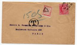 """INDE - 1904 - ENVELOPPE Pour PARIS Avec TAXE FRANCAISE De 0,30 Cts -> AU DOS CACHET """"SEA POST OFFICE"""" - 1902-11 King Edward VII"""