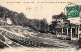 Cpa 1913 BAGNOLS (4), Gard, Le Théâtre En Plein Air De Mont Cotton Timbre Perforé  (39.65) - Bagnols-sur-Cèze