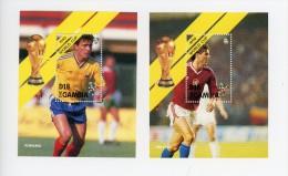Gambie-1990-Joueurs Pays Bas Et Roumanie-Coupe Du Monde De Football Italie-YT B97/8***MNH - Coupe Du Monde
