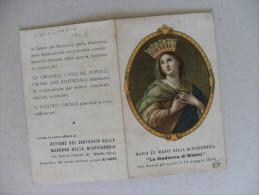 """Calendarietto/calendario Santino Maria SS. Madre Della Misericordia """"La Madonna Di Rimini"""" 1948 - Calendari"""