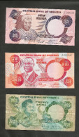 [NC] NIGERIA - CENTRAL BANK Of NIGERIA - 5 / 10 / 20 NAIRA - LOT Of 3 DIFFERENT BANKNOTES - Nigeria