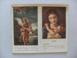 """Calendarietto/calendario Santino Omaggio """"Piccola Opera Del S. Cuore"""" Vitorchiano Stazione - Viterbo 1950 - Calendari"""