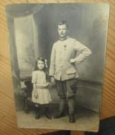 Carte Photo Originale  Poilu Avec Croix De Guerre - 1914-18