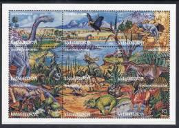 GEORGIA 1995 Prehistoric Creatures II  Sheetlet  MNH / **  Michel 202-10 - Georgia
