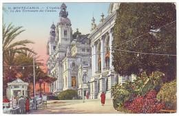 MONACO. MONTE-CARLO. L'Opéra, Vue Des Terrasses Du Casino (Postally Unused - Non Voyagée) - Opernhaus & Theater