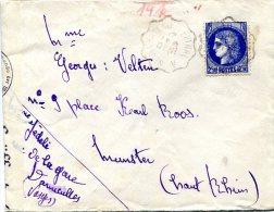 Vr 189 Lettre Obl. Ambulant Epinal à Neufchateau 1941 Ouvert Par Censure Allemande Bande De Fermeture Et Cachets Rouge - France
