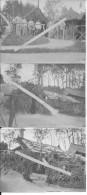 1915 Louvercy Marne Parc SMA Section De Munitions Cagnas Abris Jardins Décorés 3 Photos 1914-1918 14-18 Ww1wwI Wk - Oorlog, Militair