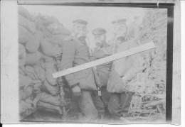 Tranchée Allemande Guerre Des Gaz Essai Des Masque à Gaz 1 Photo 1914-1918 14-18 Ww1wwI Wk - Guerra, Militari