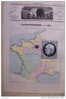L'ECLIPSE.sixième Année.-n°232.dimanche 6 Avril 1873.l'affranchissement, Par GILL. Caricature Timbre Poste - Journaux - Quotidiens