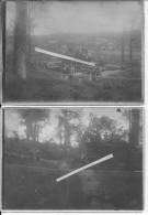 Somme Chuignes Chaulnes Civils Visitant L'emplacement De La Bertha 3 Photos 1914-1918 14-18 Ww1wwI Wk - War, Military
