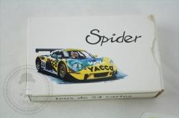 Rare Advertising Deck Of 54 Poker Playing Cards - Renault Spider Yacco - Racing - Barajas De Naipe