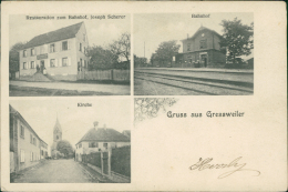 67 GRESSWILLER / Kirche, Bahnhof, Restauration Zum Bahnhof, Joseph Scherer / - France