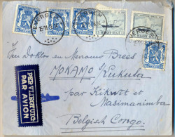 4cp-535: N°426+426+426+426+727+727: EVERGEM -1 15-11-46 14> Mokamo S/Lukula P/Kikwit Et Masimanimba Belgisch Congo - Belgien