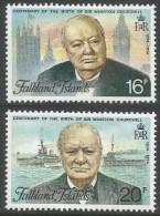 Falkland Islands. 1974 Birth Centenary Of Sir Winston Churchill. MH Complete Set. SG 304-5 - Falkland Islands