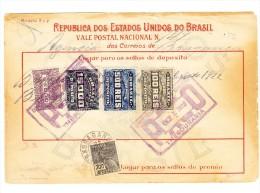 Brasilien Post Mandat 1922 Von 6600 Reis - Lettres & Documents