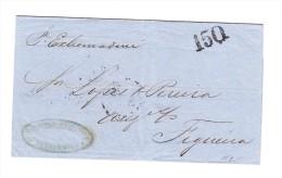 Brasilien Brief Von Pernambuco Nach Figueira Frank Rückseite Senkrechtes Paar 30 Reis Transatlantico Stempel - Brésil