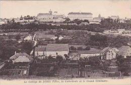 France Langres Le College de Jeunes Filles la Cathedrale et le G