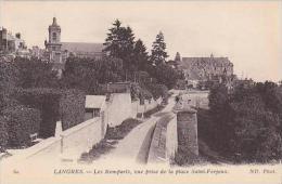 France Langres Les Remparts vue prise de la place Saint-Ferjeux