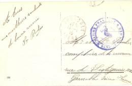 CPA Guerre 14-18 - WW1 - Malta Cachet Marine Française, Service à La Mer - Guerre De 1914-18
