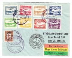 Erst Flug Brief Bolivien-Brasilien 30.7.1930 Condor - Bolivie