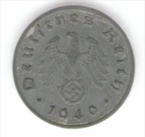 GERMANIA TROISIEME REICH 1 REICHSPFENNIG 1940 - [ 4] 1933-1945 : Troisième Reich