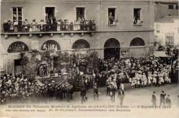 42 – CHARLIEU – Souvenir Du Concours Musical Et Agricole, 1909 – Pl. St-Philibert  (pub Au Verso Lafay-Besacier, Roanne) - Charlieu