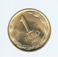 CHILE -  1 Peso 1990 SC  KM216 - BERNARDO O'HIGGINS - Chile