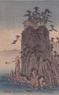 CPA JAPON @ BINGO @ Abuto Kwannon -  Illustration Vers 1910 - Habitation En Surplomb Au Sommet D'un Rocher - Japon