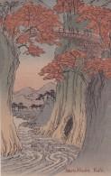 CPA JAPON @ KAHI @ Saru - Hashi -  Illustration Vers 1910 - Pont Suspendu - Japon