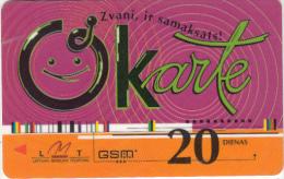 LATVIA - LMT Prepaid Card 20 Dienas, Used - Latvia