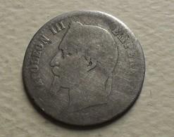 1864 - France - 50 CENT. NAPOLEON III, (A), Tête Laurée, Argent, Silver, KM 814.1, Gad 417 - France