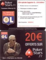 CARTE JEU GAME CARD POKER STARS FOOTBALL OLYMPIQUE LYONNAIS O.L VALID 04.03.2013 - Jeux