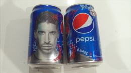 Vietnam Pepsi Cola 330ml Empty Can - World Cup 2014 / Ramos Of Spain -  Opened At Bottom - Cannettes