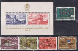 BR 30  LICHTENSTEIN  XX  499/502 + 507 EN BLOK 12 - Liechtenstein