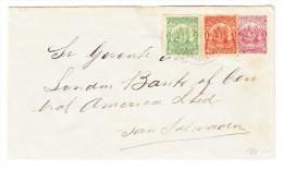 El Salvador Ganzsachen Brief 1 Centavos Mit Zusatz 1 + 3 C Auf Brief 1898 Nach San Salvador - Salvador