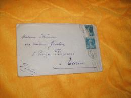ENVELOPPE UNIQUEMENT DE 1923. / METZ MOSELLE A TURIN TORINO ITALIE / CACHETS + TIMBRES. - Marcophilie (Lettres)