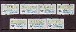 1991 TURKEY AUTOMATON STAMPS GROUP III MNH ** - ATM - Frama (vignette)