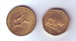 Tanzania 2 Coins Lot - Tanzanie