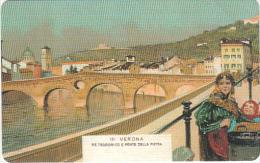 ITALY - Painting, Verona/Reteodorico E Ponte Della Pietra, 100a Veronafil, Tirage 25000, Exp.date 30/06/04, Mint - Italy