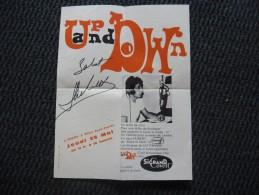 DEDICACE Autographe HUBERT WAYAFFE à Tours , Animateur Radio EUROPE 1 Dans Les Années 60 - Pub Vêtements Sigrand Covett - Autographes