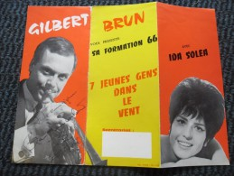 DEDICACE Autographe Gilbert BRUN Avec Ida SOLEA En 1966 - Autographes