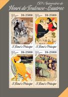 st14204a S.Tome Principe 2014 Painting Henri de Toulouse-Lautrec s/s Horse