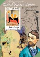 st14204b S.Tome Principe 2014 Painting Henri de Toulouse-Lautrec s/s