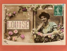 Bonne Fête LOUISE -   Cpa  Année 1908   Souvenir  Amitiés  (M) - Prénoms