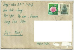 POSTAL USED POSTAL AIRMAIL USED COVER TO PAKISTAN RECEIVER ADDRESS REMOVE BY COMPUTER - Korea (...-1945)